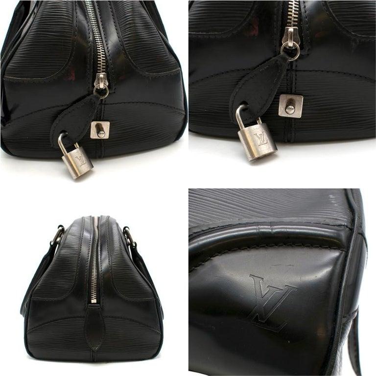 Louis Vuitton Black Epi Leather Bowling Montaigne Bag For Sale 1