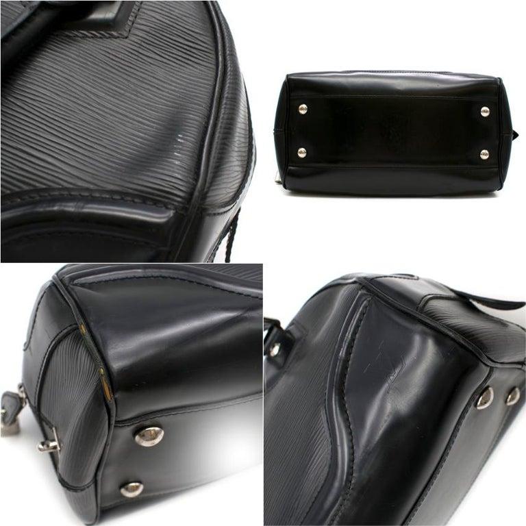 Louis Vuitton Black Epi Leather Bowling Montaigne Bag For Sale 2
