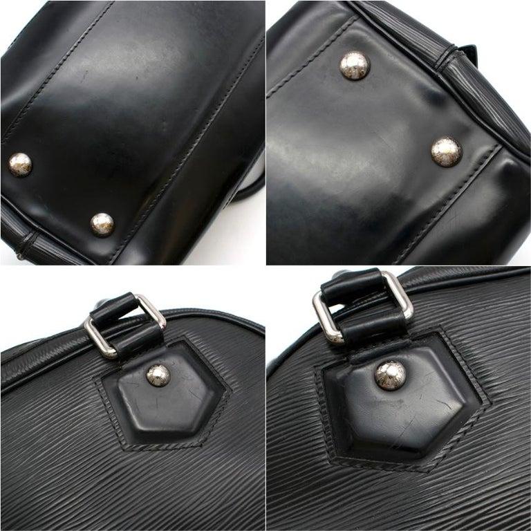 Louis Vuitton Black Epi Leather Bowling Montaigne Bag For Sale 3