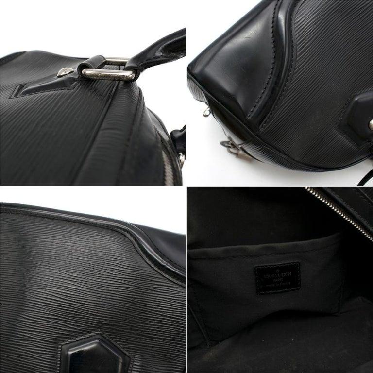 Louis Vuitton Black Epi Leather Bowling Montaigne Bag For Sale 4