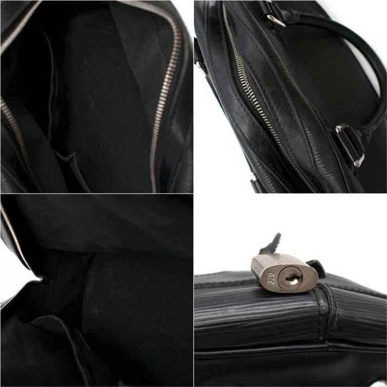 Louis Vuitton Black Epi Leather Bowling Montaigne Bag For Sale 5