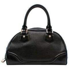 Louis Vuitton Black Epi Leather Bowling Montaigne Bag