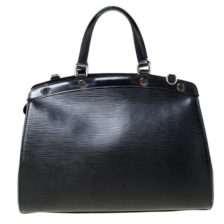 Louis Vuitton Black Epi Leather Brea MM Bag For Sale 3