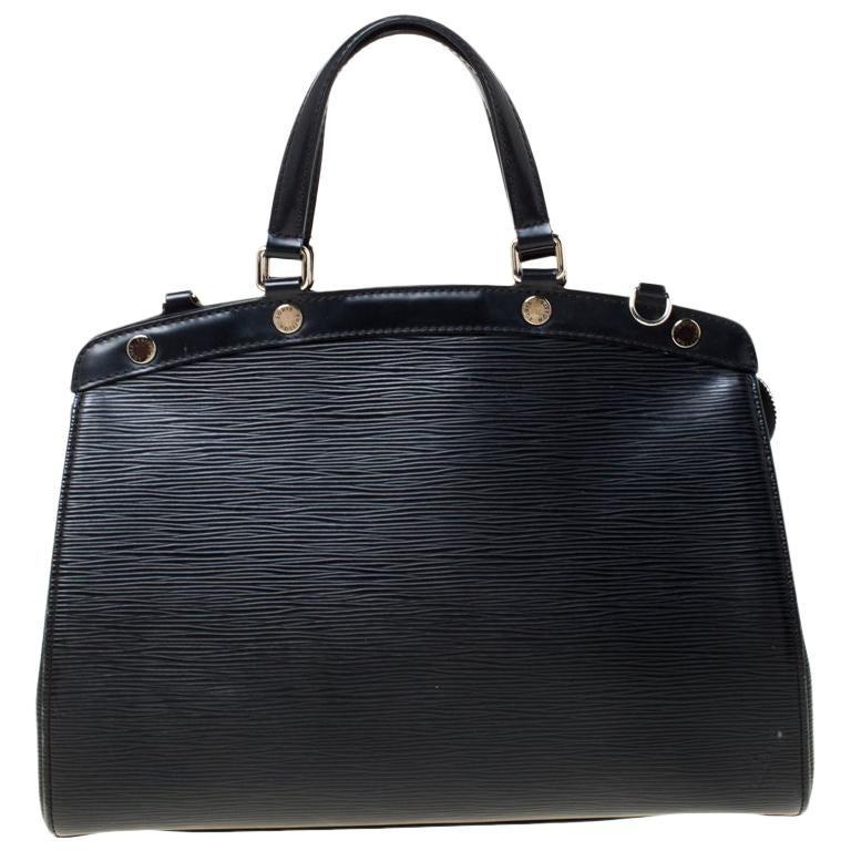 Louis Vuitton Black Epi Leather Brea MM Bag For Sale