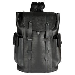 Louis Vuitton Black Epi Leather Christopher PM Backpack