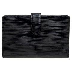 Louis Vuitton Black Epi Leather French Purse Wallet