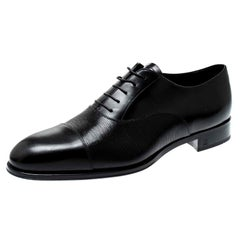 Louis Vuitton Black Epi Leather Lace Up Oxfords Size 44