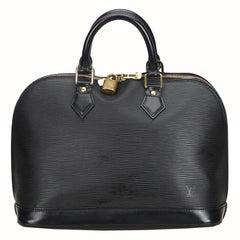 Louis Vuitton Black Epi Leather Leather Epi Alma PM France w/ Dust BagPadlock
