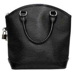 Louis Vuitton Black Epi Leather Lockit Bag