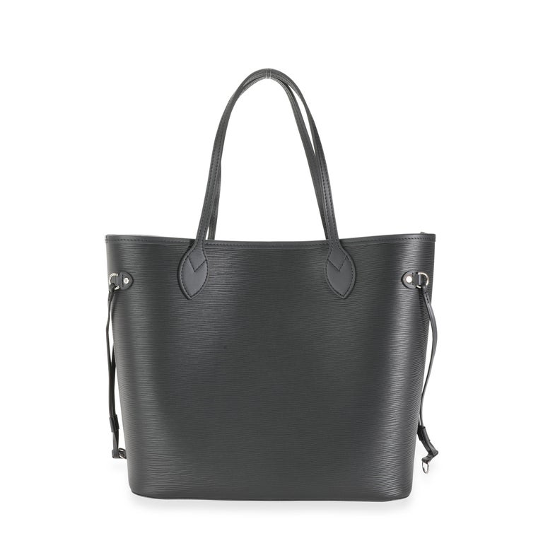 Louis Vuitton Black Epi Leather Neverfull MM For Sale 2