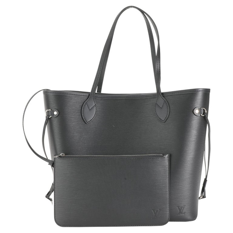 Louis Vuitton Black Epi Leather Neverfull MM For Sale