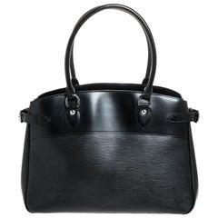 Louis Vuitton Black Epi Leather Passy GM Bag