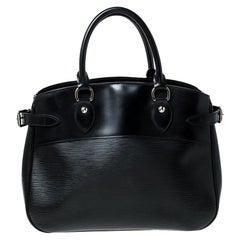 Louis Vuitton Black Epi Leather Passy PM Bag