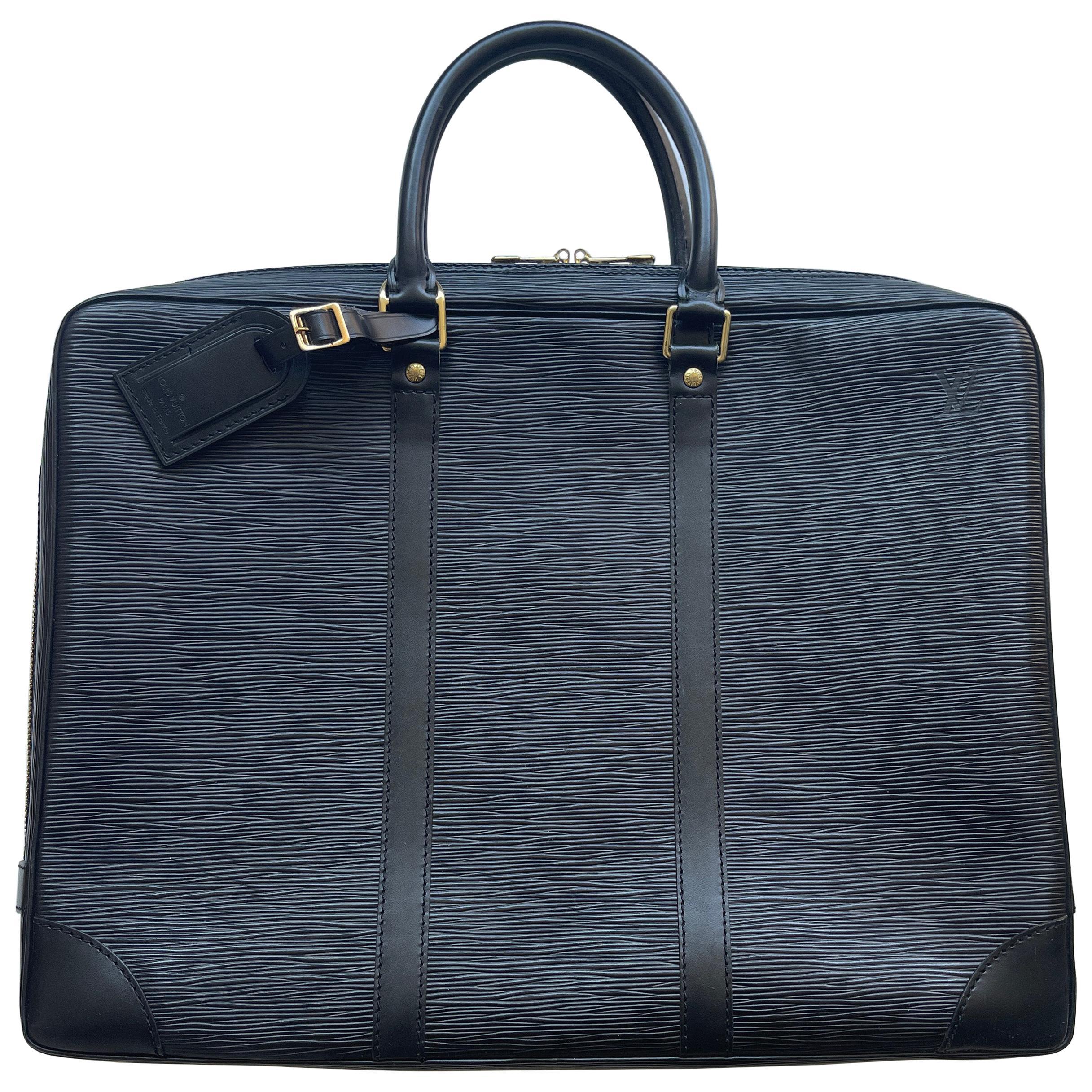 Louis Vuitton Black Epi Leather Porte-Documents Voyage Briefcase Bag rt. $2,910
