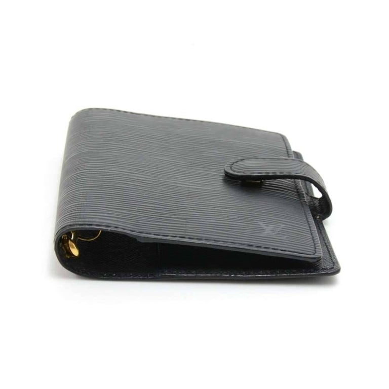 Louis Vuitton Black Epi Leather Ring Agenda Cover  PM  In Good Condition For Sale In Fukuoka, Kyushu