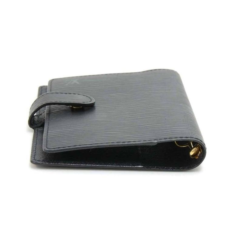 Louis Vuitton Black Epi Leather Ring Agenda Cover  PM  For Sale 1