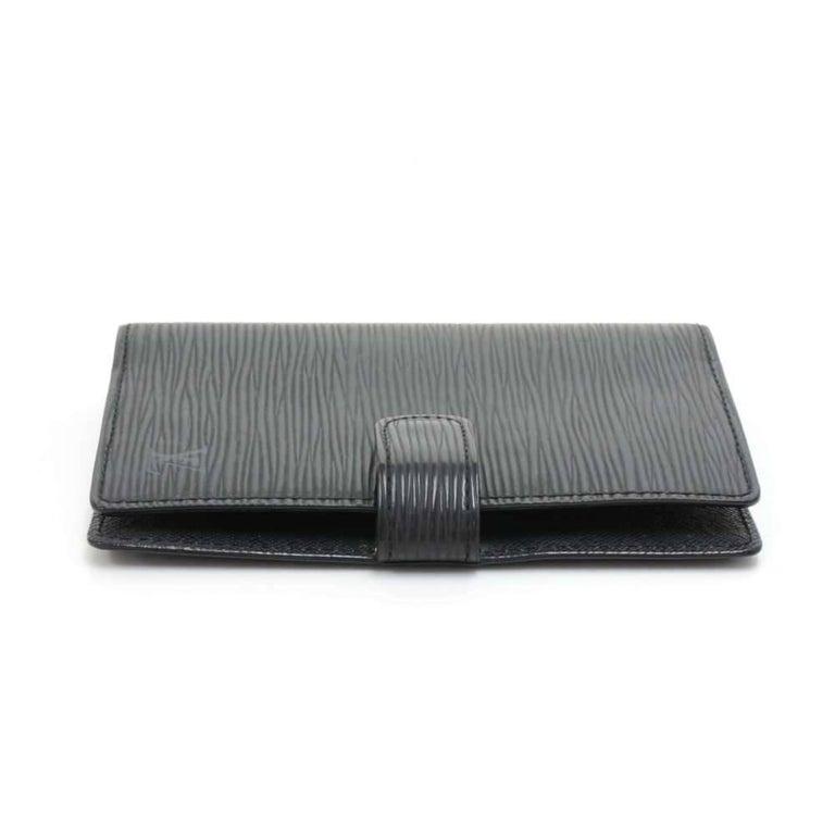 Louis Vuitton Black Epi Leather Ring Agenda Cover  PM  For Sale 2