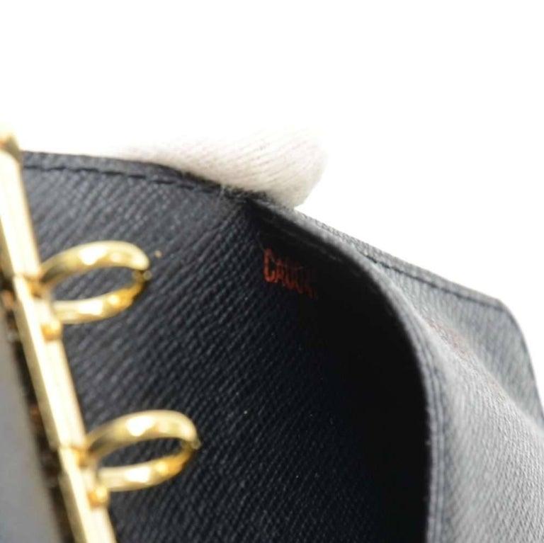 Louis Vuitton Black Epi Leather Ring Agenda Cover  PM  For Sale 3