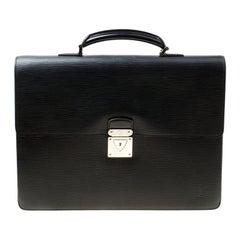 Louis Vuitton Black Epi Leather Robusto 2 Compartment Briefcase