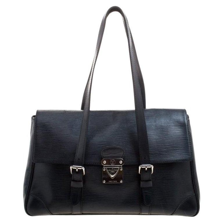 Louis Vuitton Black Epi Leather Segur MM Bag For Sale