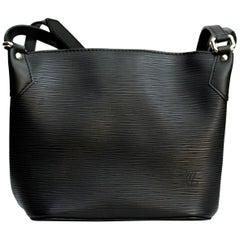 Louis Vuitton Black Epi Leder Umhängetasche