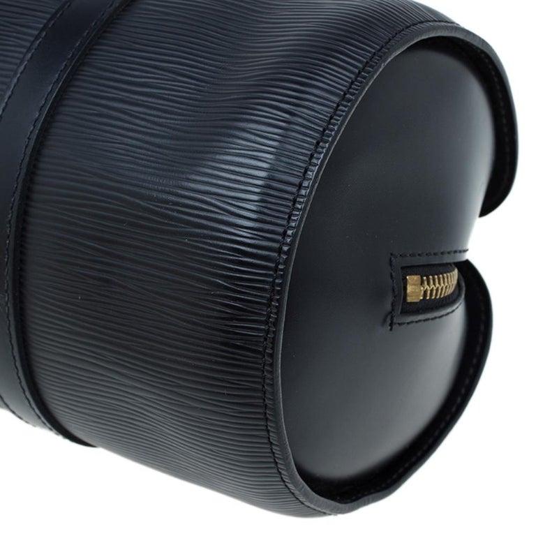 Louis Vuitton Black Epi Leather Soufflot Bag For Sale 7