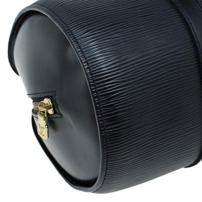 Louis Vuitton Black Epi Leather Soufflot Bag For Sale 8