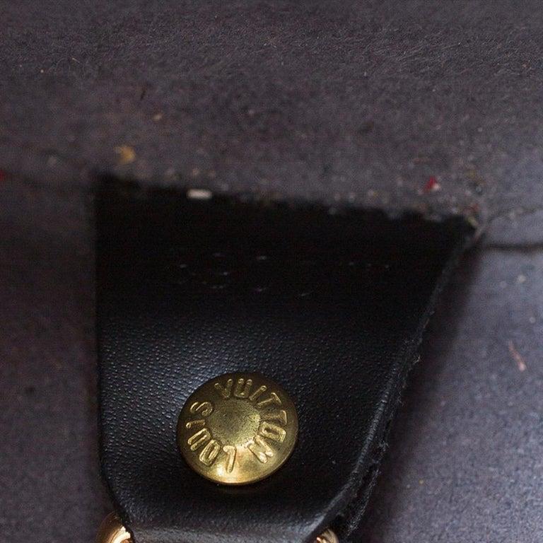Louis Vuitton Black Epi Leather Soufflot Bag For Sale 11