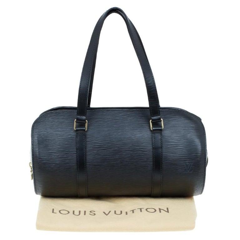 Louis Vuitton Black Epi Leather Soufflot Bag For Sale 13