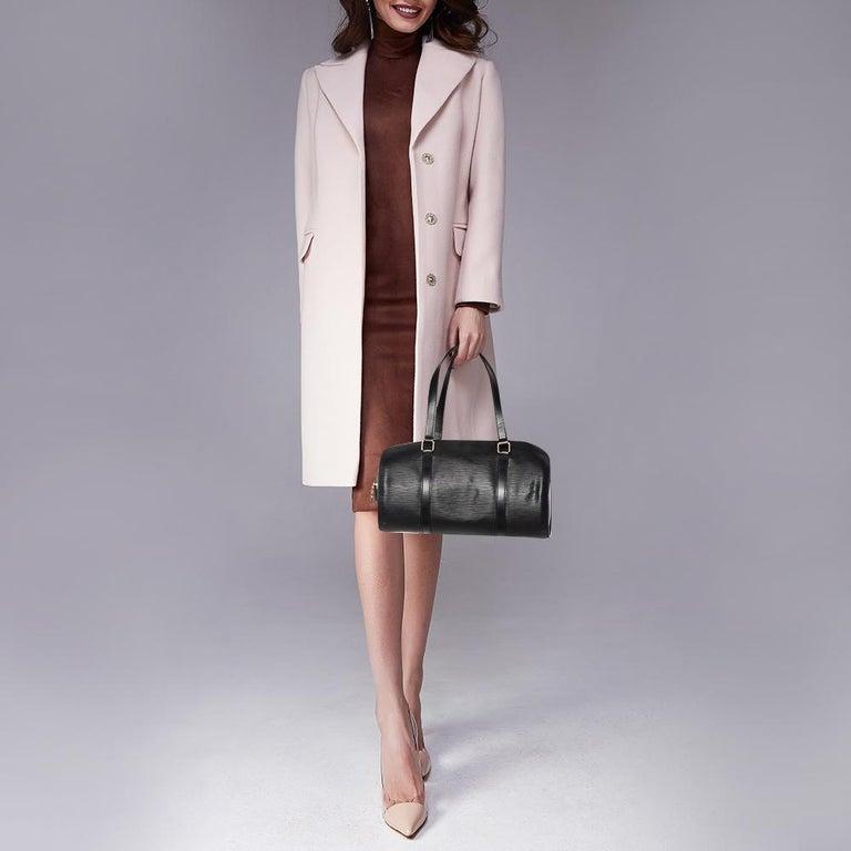 Louis Vuitton Black Epi Leather Soufflot Bag In Good Condition For Sale In Dubai, Al Qouz 2