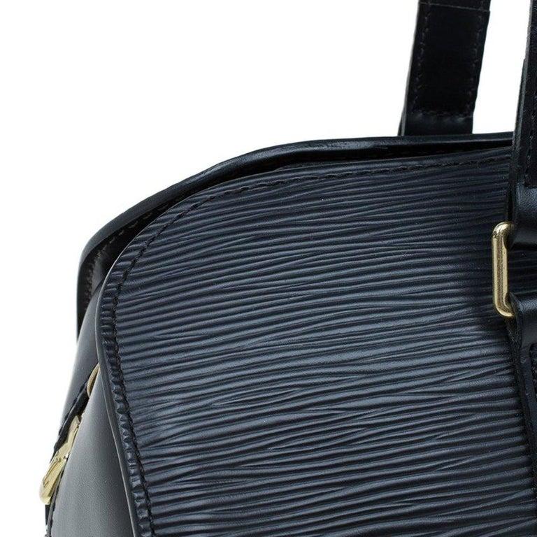 Louis Vuitton Black Epi Leather Soufflot Bag For Sale 3