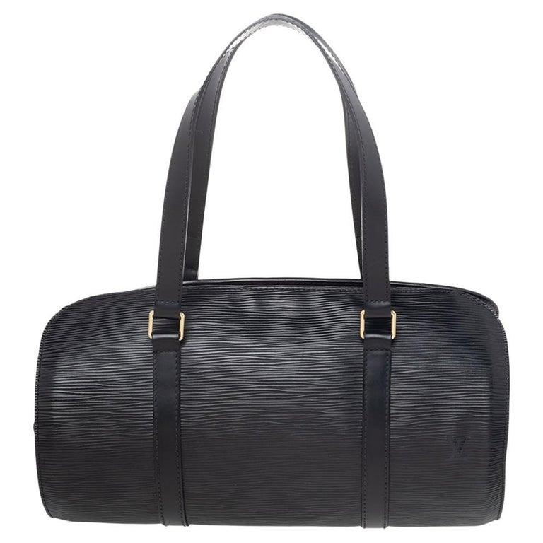 Louis Vuitton Black Epi Leather Soufflot Bag For Sale