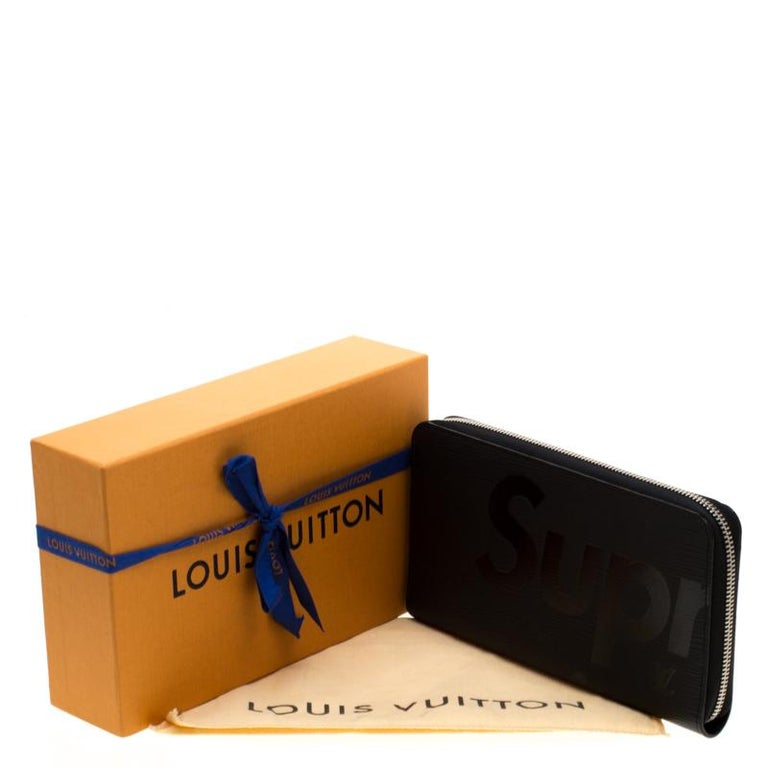 Louis Vuitton Black Epi Leather Supreme Zippy Oganizer For Sale 4