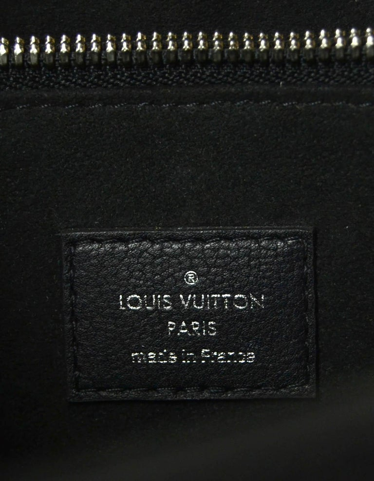 Louis Vuitton Black Epi Leather Twist Lock Tote Bag w/ Shoulder Strap rt. $3,450 For Sale 4