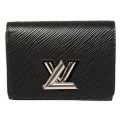 Louis Vuitton Black Epi Leather Twist Wallet