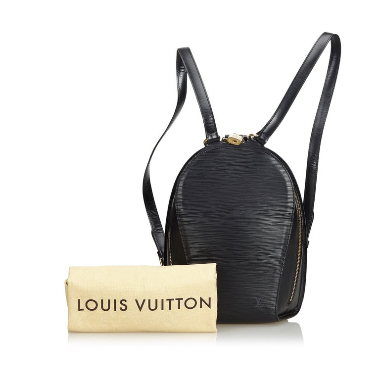 Louis Vuitton Black Epi Mabillon For Sale 6