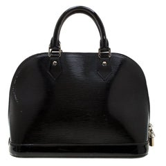 Louis Vuitton Black Epi Patent Leather Alma PM Bag