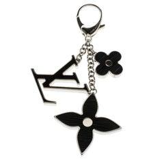 Louis Vuitton Black Fleur D'Epi Monogram Bag Charm