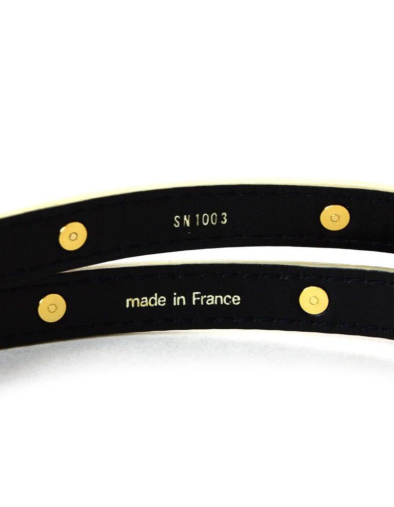 Women's Louis Vuitton Black/Gold Studded Suhali Leather Double Tour Belt sz Medium For Sale