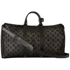 Louis Vuitton Black Keepall Bandouliere 50 Virgil Abloh M53971