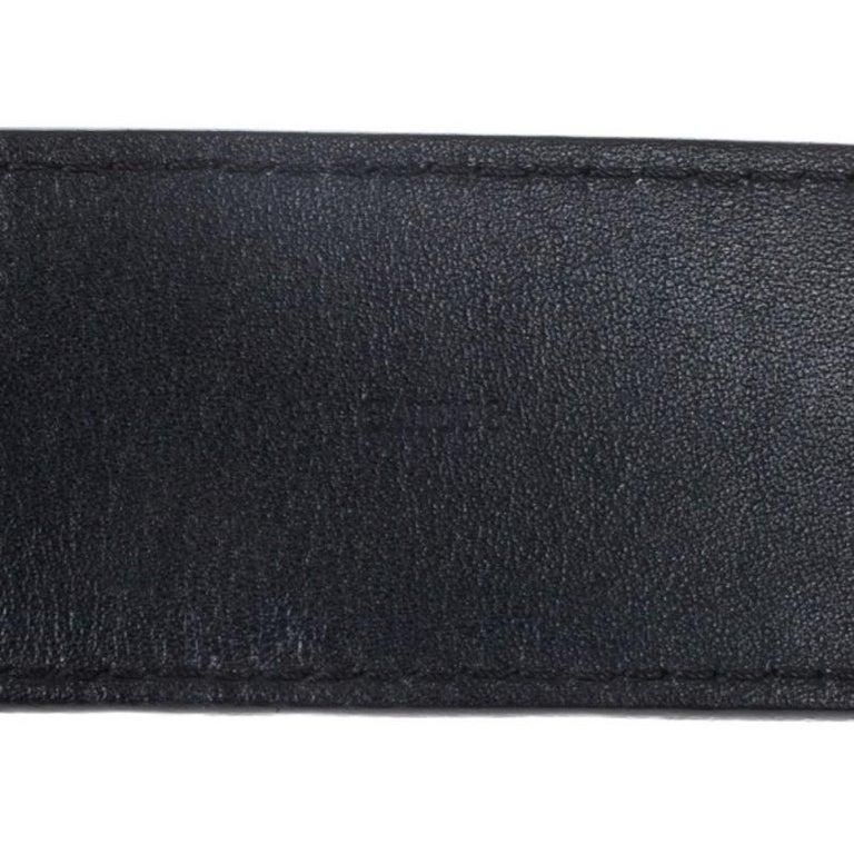 Louis Vuitton Black Leather 1904 Belt 90CM For Sale 1