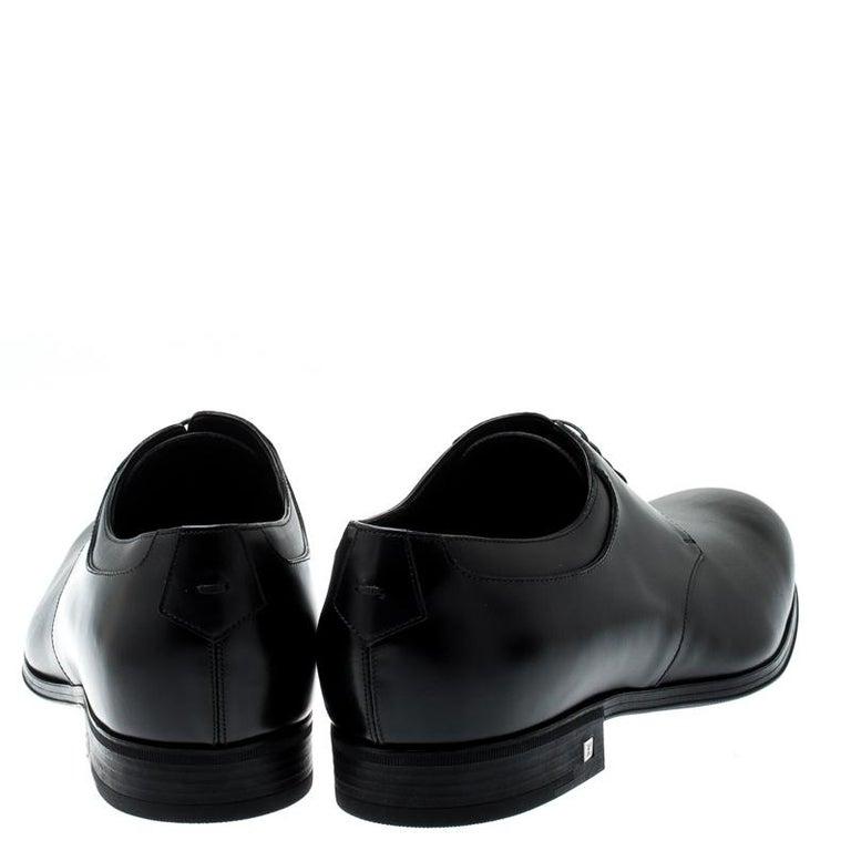 Men's Louis Vuitton Black Leather Lace Up Derby Size 41.5 For Sale