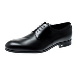 Louis Vuitton Black Leather Lace Up Derby Size 41.5