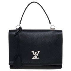 Louis Vuitton Black Leather Lockme II Bag