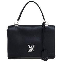 Louis Vuitton Black Leather Lockme II Bag