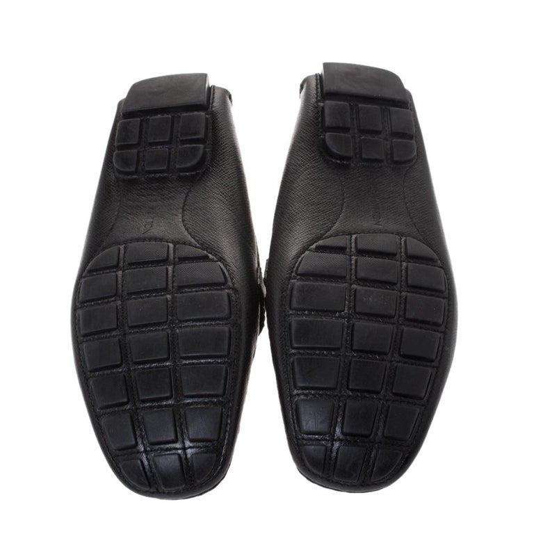 Louis Vuitton Black Leather Monte Carlo Loafers Size 43 For Sale 1