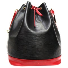 Louis Vuitton Black Leather Petit Noe Bag