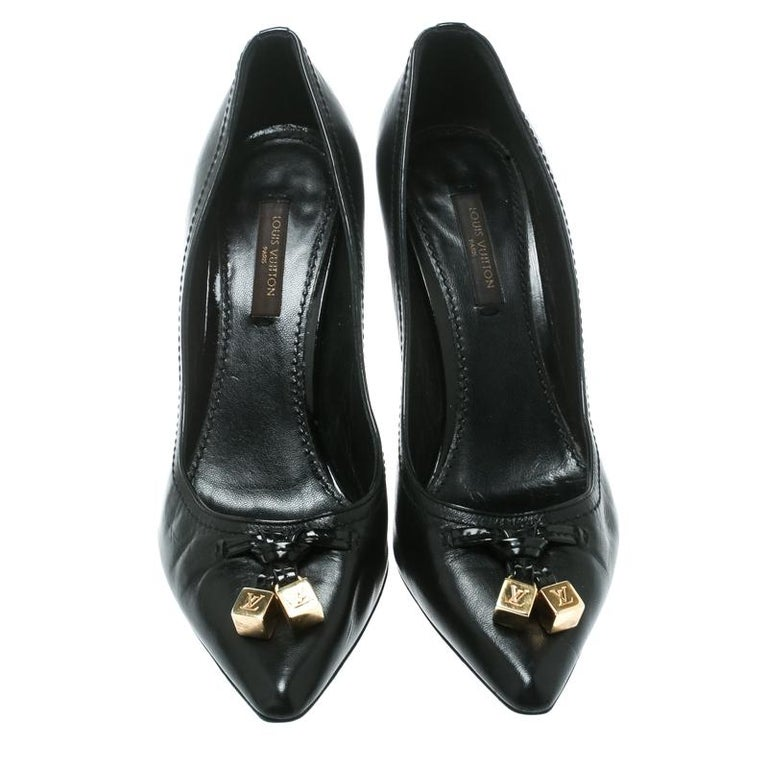 434cb30f14 Personify elegance while flaunting these leather pumps. They are from Louis  Vuitton and they feature