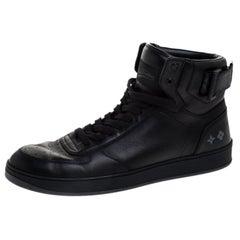 Louis Vuitton Black Leather Rivoli High Top Sneakers Size 42