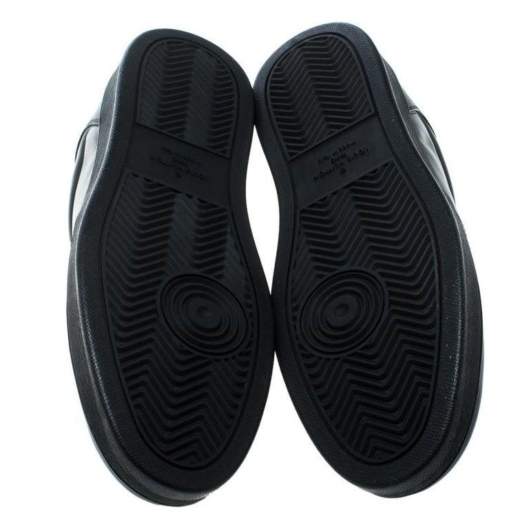 Men's Louis Vuitton Black Leather Rivoli Sneakers Size 43